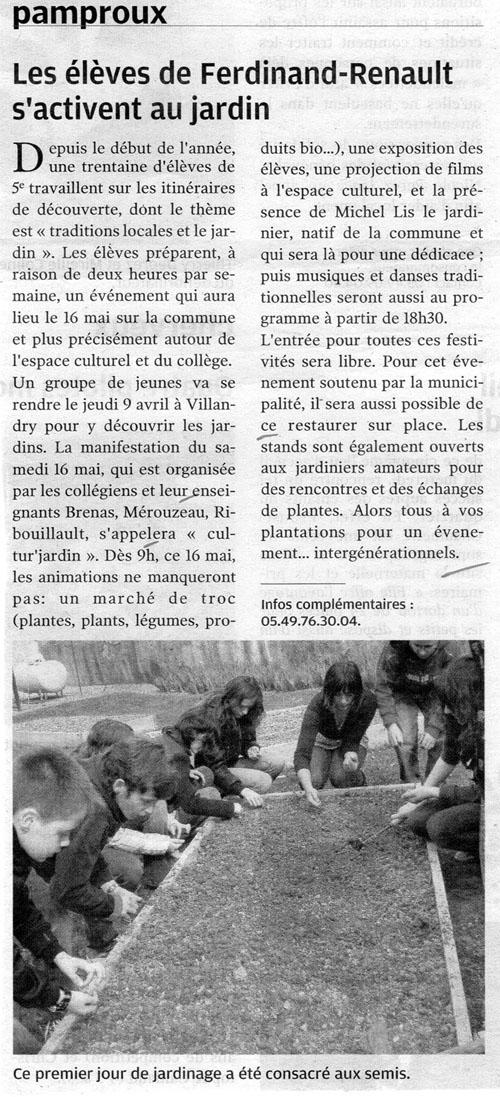 Cultur 39 jardin 2009 pamproux - College du jardin des plantes poitiers ...